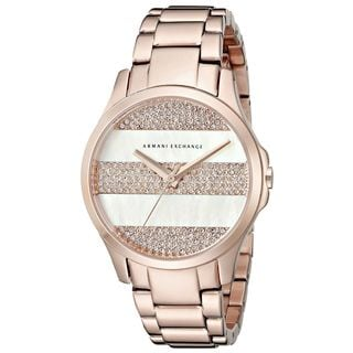 Armani Exchange Women's AX5244 'Smart' Crystal Rose-Tone Stainless Steel Watch