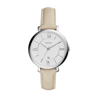 Fossil Women's ES3793 'Jacqueline' White Leather Watch