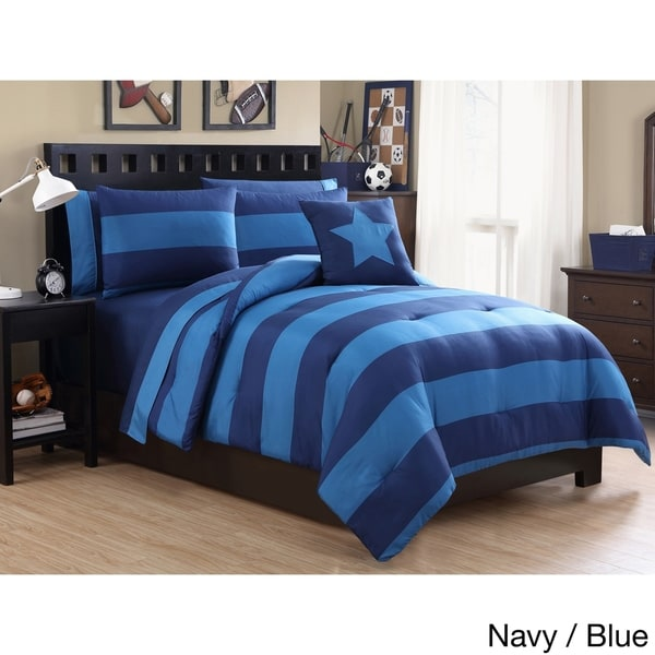 VCNY Rugby Stripe Bed-in-a-Bag