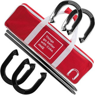 Coca Cola Horseshoe Set with Carry Case