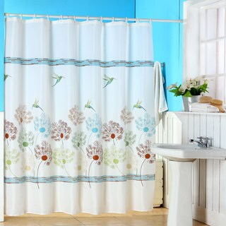 Windsor Home Springtime Printed Shower Curtain with Buttonhole