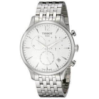 Tissot Men's T-Classic Tradition Round Silvertone Stainless Steel Bracelet Watch