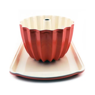 CooknCo Orange Cookie Sheet and Bundt Pan Set