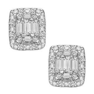 14K White Gold 1/3ct TDW Diamond Earrings (H-I, I1-I2)