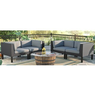 CorLiving Oakland 4-piece Loveseat Patio Set