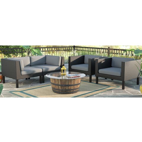 CorLiving Oakland 4-piece Loveseat and Chair Patio Set
