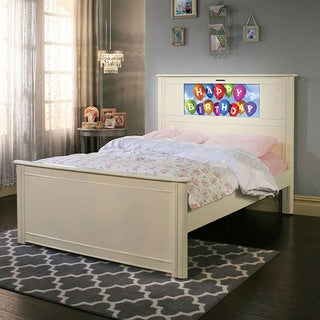 LightHeaded Beds Riviera Satin White Full Bed by Lifetime