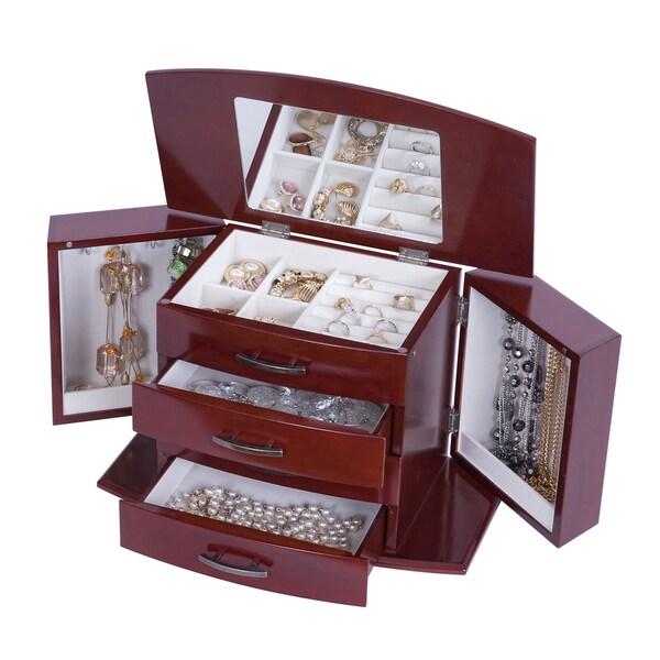 Mele Designs Sutton Walnut Upright Jewelry Box