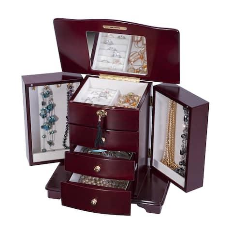 Mele Designs Waverly Cherry Wooden Jewelry Box