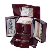 Mele Designs Waverly Cherry Wooden Jewelry Box