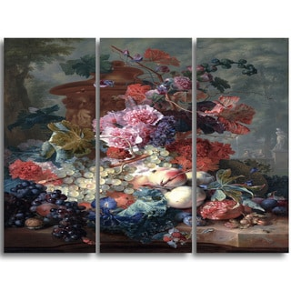 Design Art 'Jan van Huysum Fruit Piece' Canvas Art Print (3 panels)