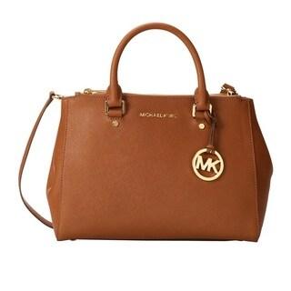 Michael Kors Sutton Medium Luggage Brown Satchel Handbag