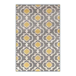 Porch & Den Marigny Touro Trellis Grey/ Yellow Area Rug (3'3 x 5')