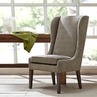 "Madison Park Sydney Traditional Wing Dining Chair--Grey - 26.25""w x 28.5""d x 45.625""h"