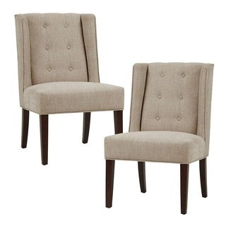 Madison Park Zoe Tufted Armless Dining Chair--Linen