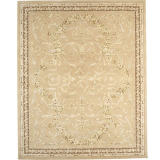 Chinese Florence Wool and Silk Hand-tufted Area Rug (7'9 x 9'9)