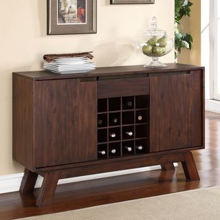 Asymmetrical Solid Wood Sideboard