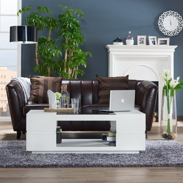 Beautiful Furniture Of America Lambern Contemporary Glass Top Coffee Table