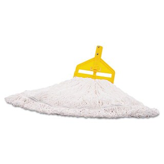 Rubbermaid Commercial Medium White Nylon Finish Mop Head (Pack of 6)