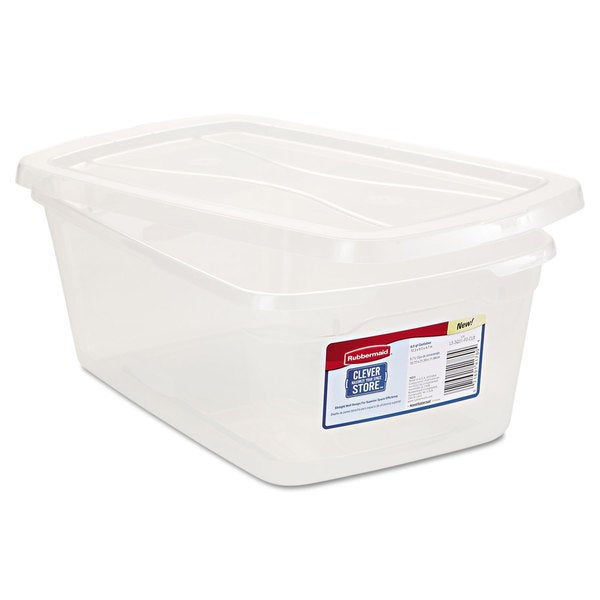 Shop Rubbermaid Clever Store Clear Snap Lid Container