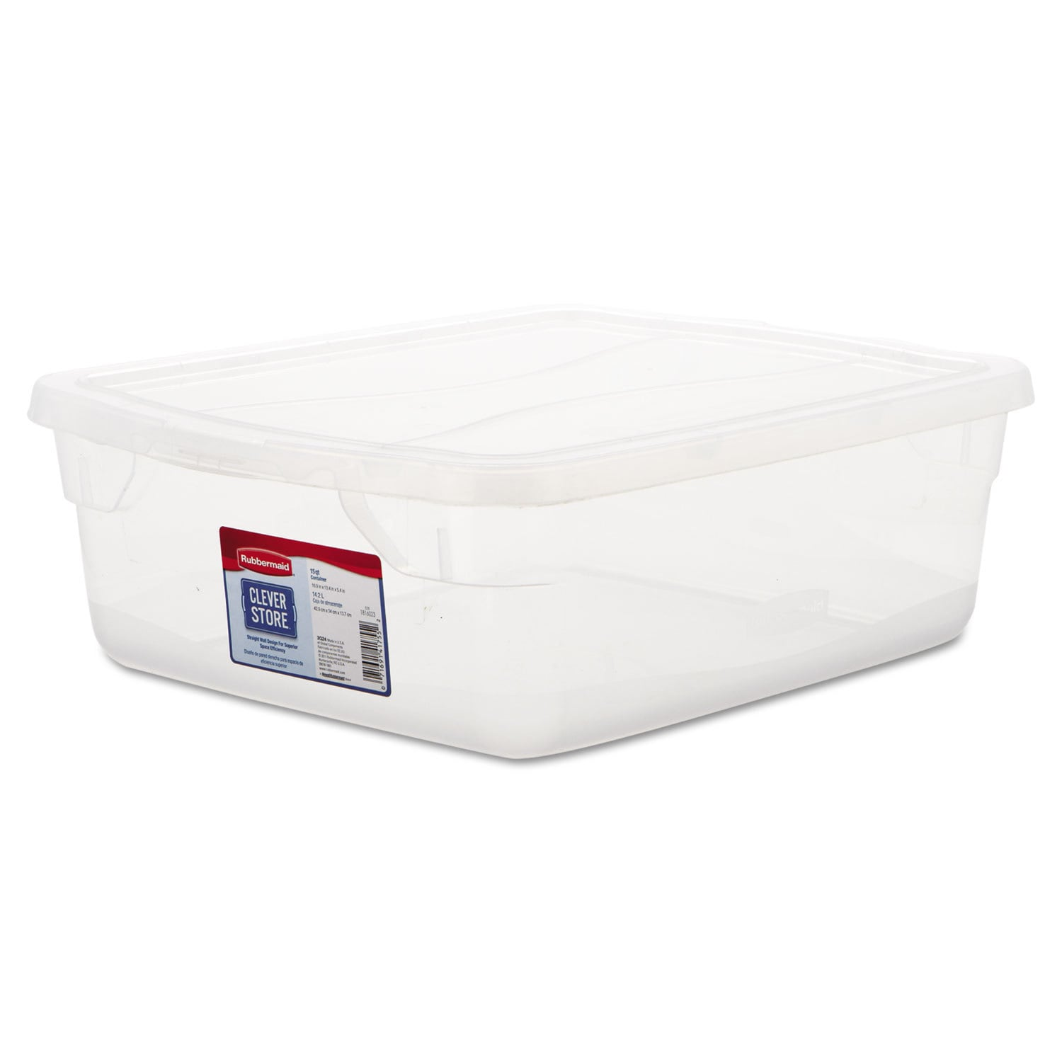 Rubbermaid Clever Store Clear Snap-Lid Container (Clear) ...