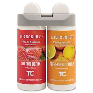 Rubbermaid Commercial Microburst Cotton Berry/Refreshing Citrus Duet Refills (Pack of 4)