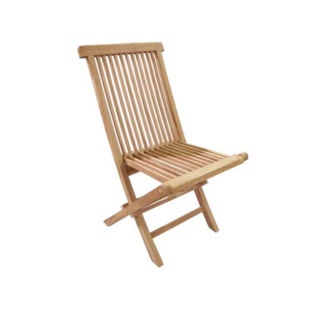 Handmade D-Art Teak Crestwood Folding Chair (Indonesia)
