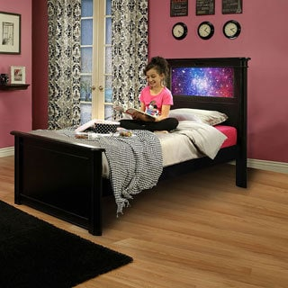 LightHeaded Beds Riviera Black Twin Bed by Lifetime