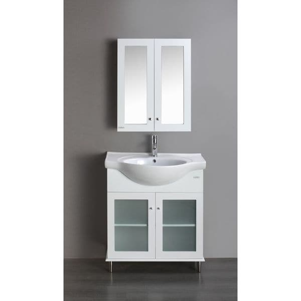 eviva tux 24 inch bathroom vanity white free shipping today