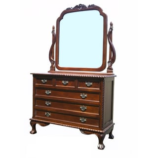 D-Art England 6-drawer Dresser with Mirror (Indonesia)