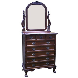 Handmade D-Art England 8-drawer Dresser with Mirror (Indonesia)