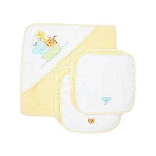 Spasilk Terry Neutral Cotton Bath Towel and Washcloth Set