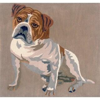 Indo Hand-tufted Bulldog Wool Area Rug (3' x 5')
