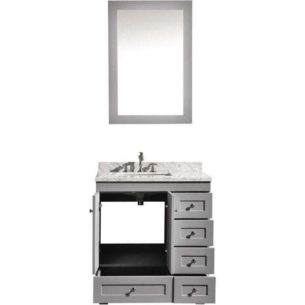 Shop Eviva Eviva Acclaim C Inch Transitional Grey Bathroom - 30 grey bathroom vanity