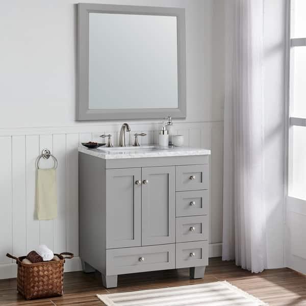 Shop Eviva Eviva Acclaim C 30 Inch Transitional Grey Bathroom