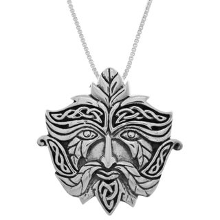 Carolina Glamour Collection Sterling Silver Celtic Green Man Pendant