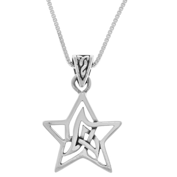 Sterling Silver Small Celtic Star
