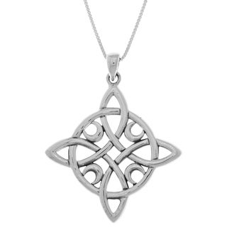 Sterling Silver Celtic Quaternary Moon Luck Knot Pendant