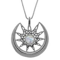 Sterling Silver Celtic Star, Sun, and Crescent Moon Pendant