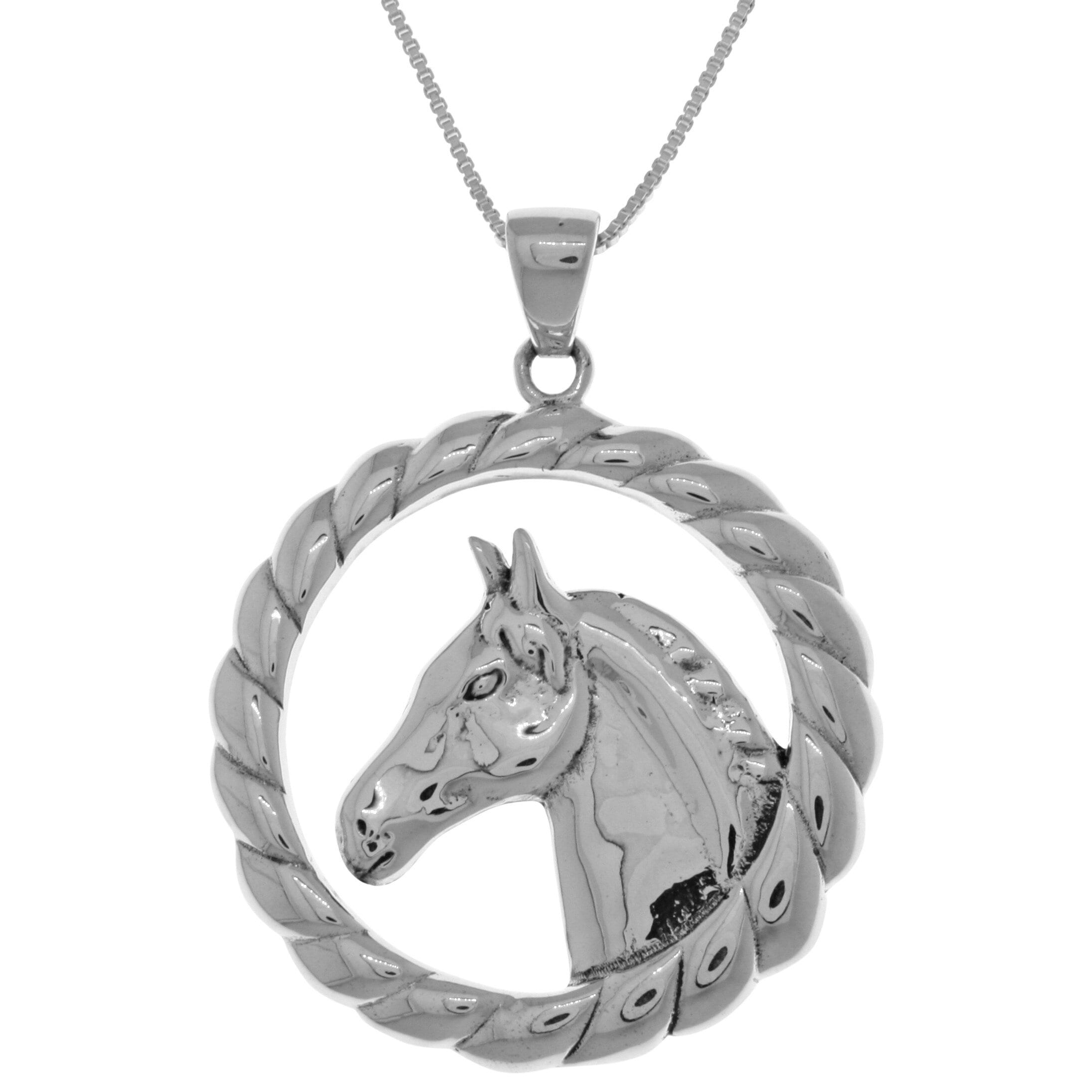 Carolina Glamour Collection Sterling Silver Large Horse P...