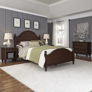 Country Comfort Bed, Two Night Stands, and Chest by Home Styles
