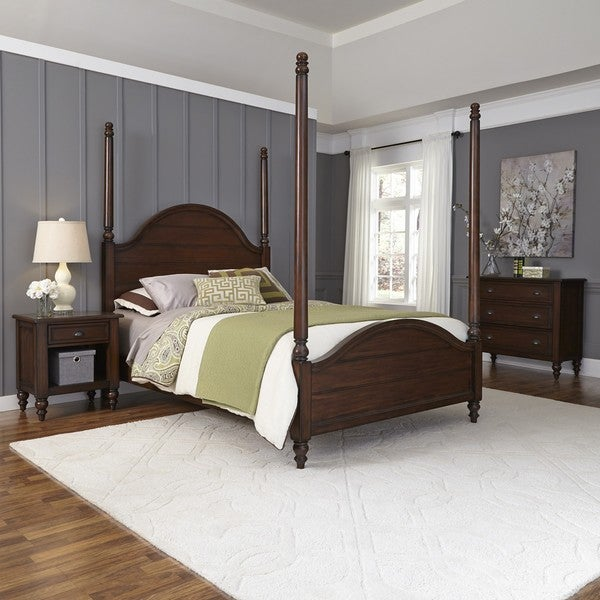 Country Comfort Poster Bed Night Stand And Chest By Home Styles Free Shipping Today