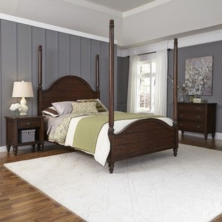 Home Styles Country Comfort Poster Bed, Night Stand, and Chest