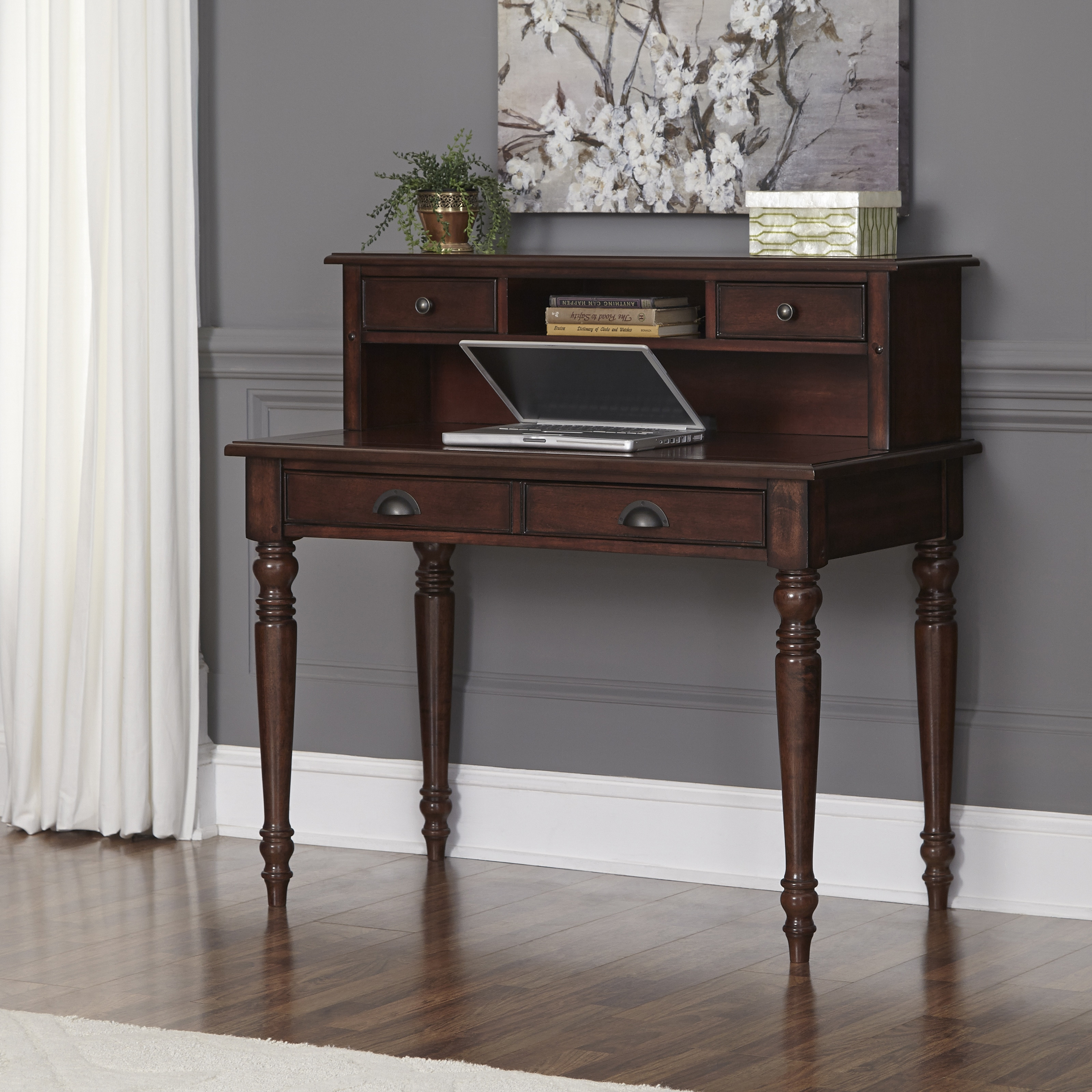 Country Comfort Student Desk and Hutch by Home Styles (Ag...