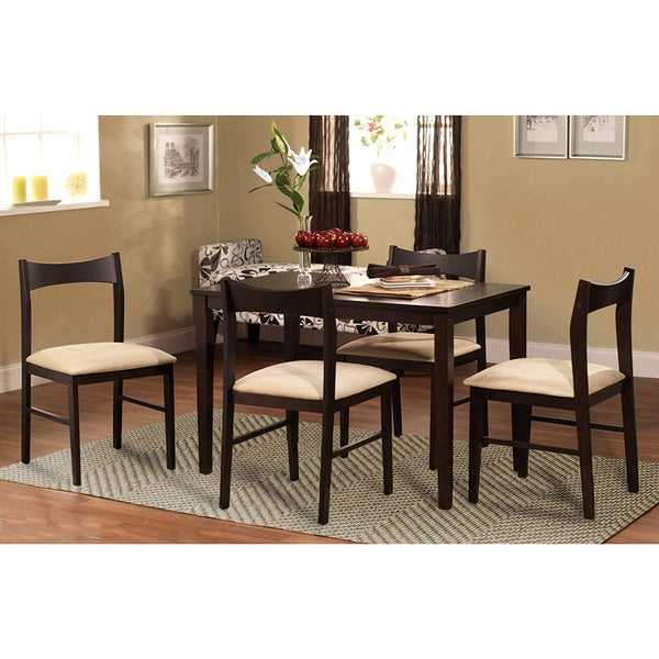 Transitional Dining Room Sets: Simple Living 5-piece Transitional Dining Set