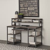 Barnside Metro Pedestal Desk and Hutch by Home Styles