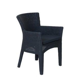 Athena Transitional Black Woven Rattan Chair