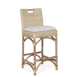Waterbury Casual Off-White Textured Bar Stool