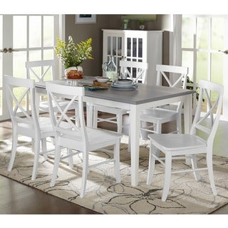 shabby chic dining room furniture. Simple Living 7-piece Helena Dining Set Shabby Chic Dining Room Furniture C