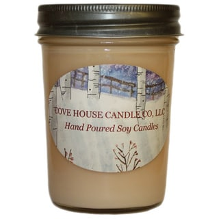 Scented Pink 8 oz. Jelly Jar Soy Candle